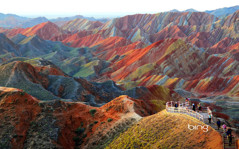 Parque Geológico Nacional Zhangye Danxia, China. Foto tomada de internet.
