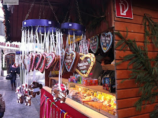 lebkuchen selling stand on the christmas market
