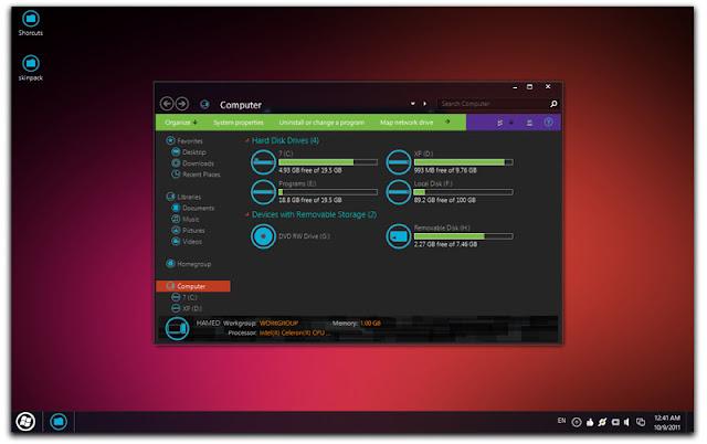 Descargar Mango Skin Pack para Windows 7