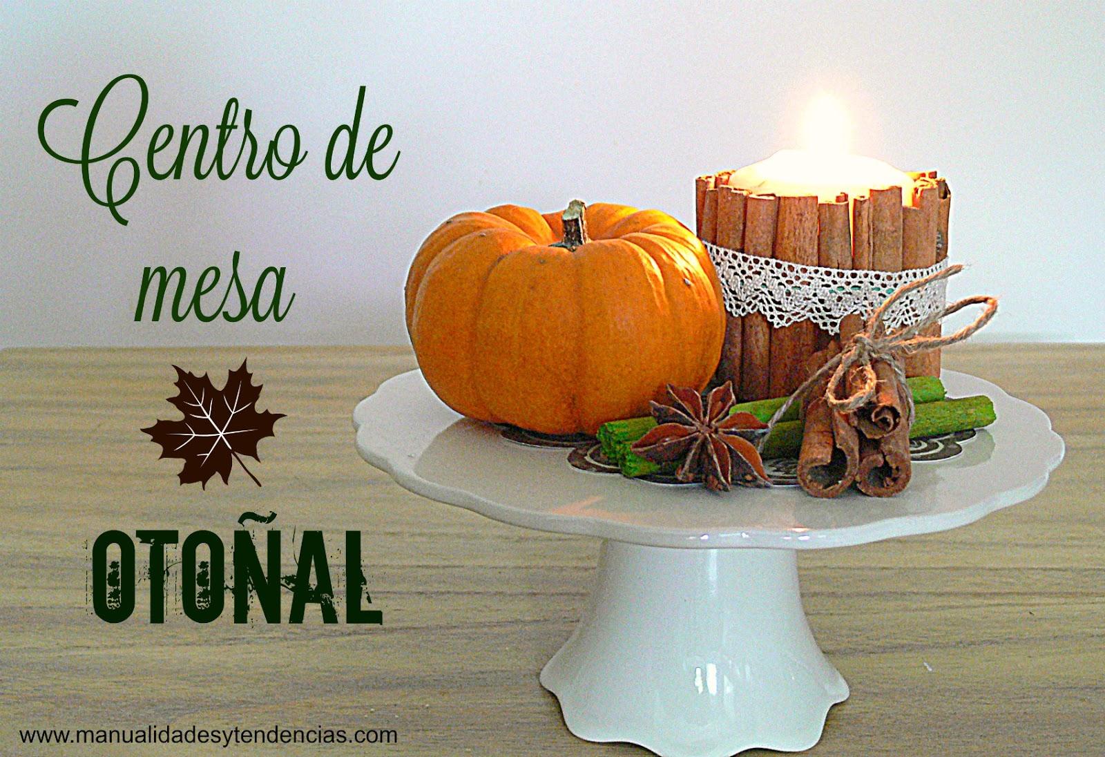 Manualidades y tendencias centro de mesa oto al casero autumn centerpiece - Centros de mesa caseros ...