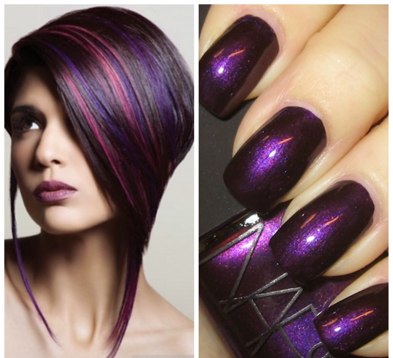textures-trends-purple-hair-nail-polish