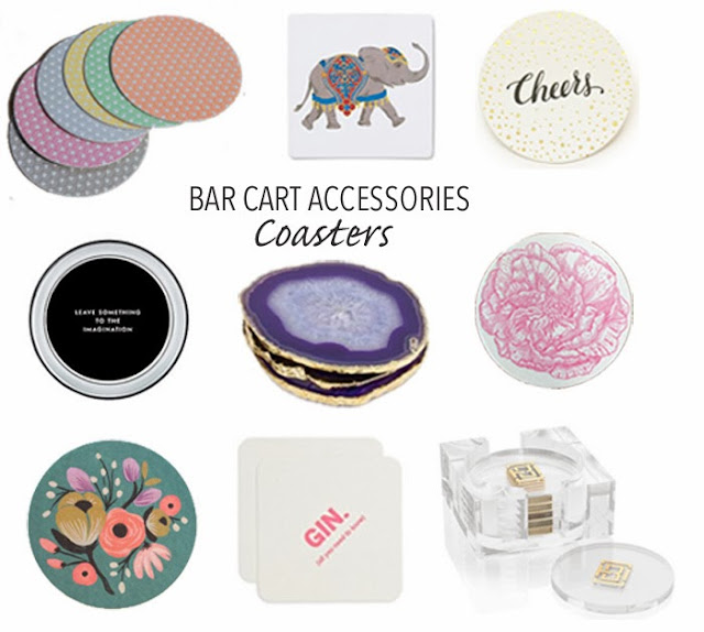 A Bar Cart in Brooklyn | Bar Cart Accessories: Coasters