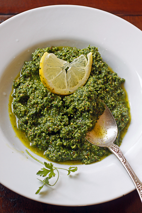 ... Appetit's June Cook the Cover Challenge: Spaghetti with Parsley Pesto