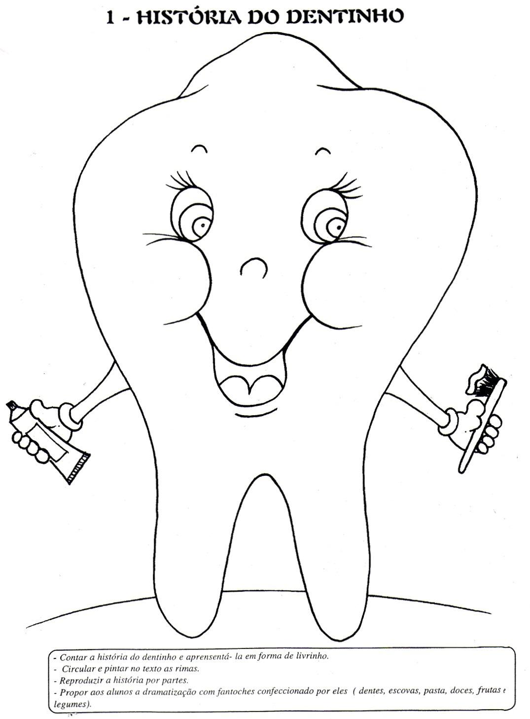 Populares ESPAÇO EDUCAR: Atividade sobre higiene: A história do dentinho  MB49