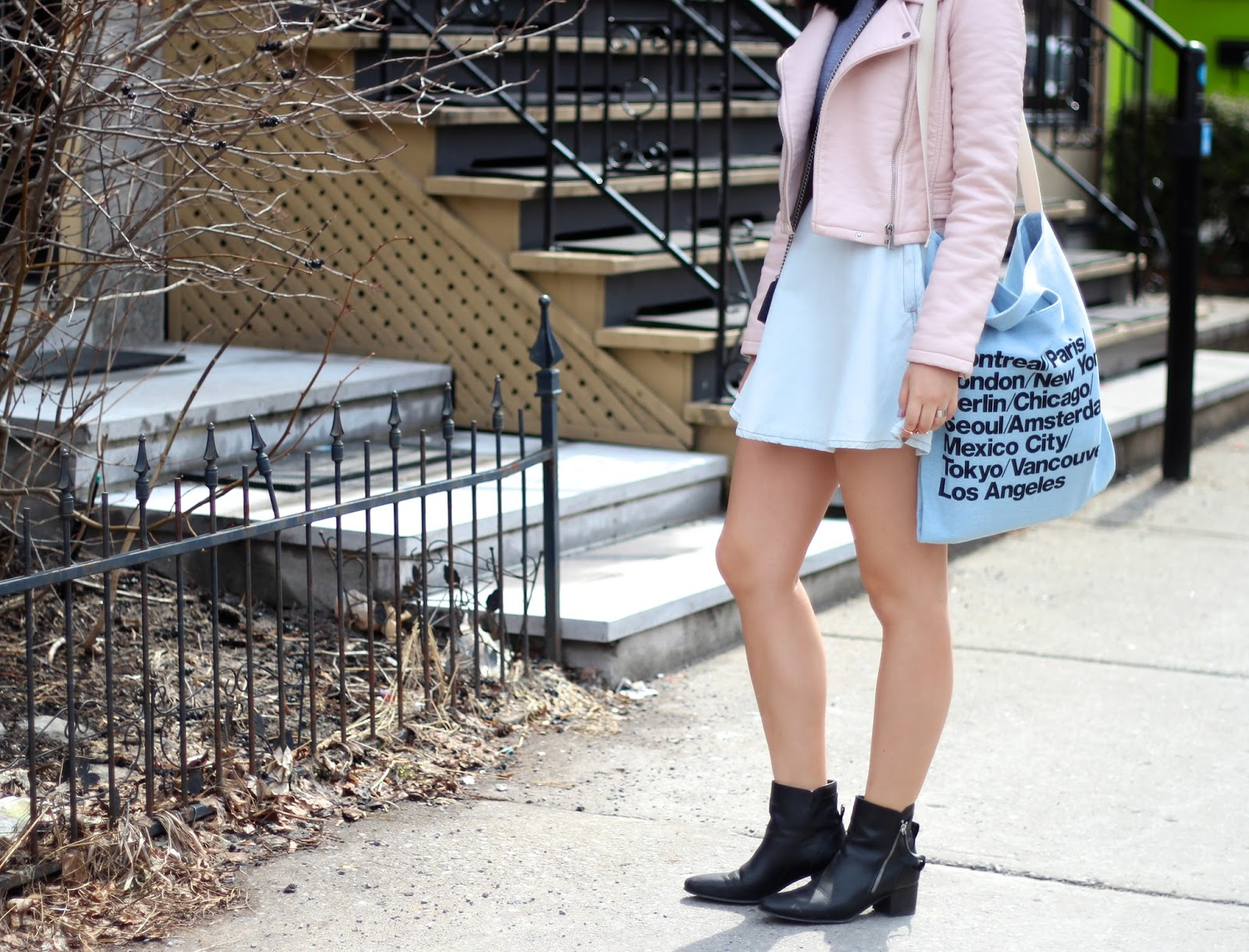 american apparel denim bag