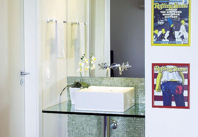 Nosso Apertamentinho Banheiro -> Cuba Para Banheiro Com Bancada De Vidro