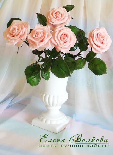 Как создать кремовые розы