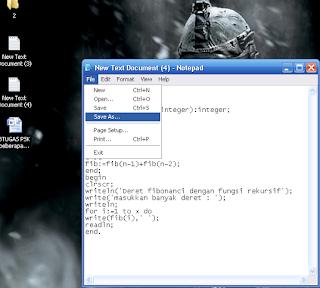 Cara praktis Copy paste Coding pascal ke dalam Turbo pascal