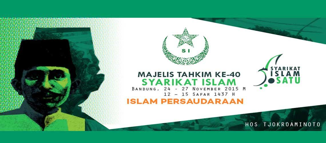 Logo dan Banner Majelis Tahkim Syarikat Islam ke-40