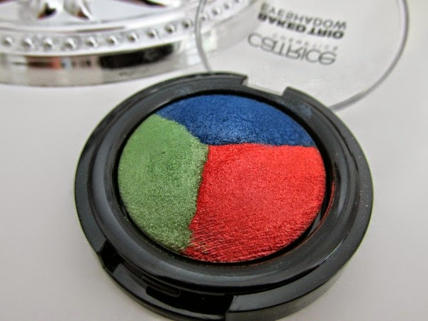 Catrice Carnival of Colours LE - baked eyeshadow trio grün,orange,blau Reviews, Photos, Swatches