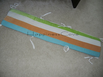 Happiness Cove...: Baby Crib Bumper Redo
