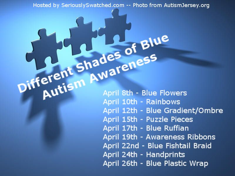 Peace Love Lacquer: Different Shades of Blue Autism Awareness ...