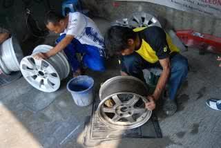 tempat memperbaiki pelek mobil