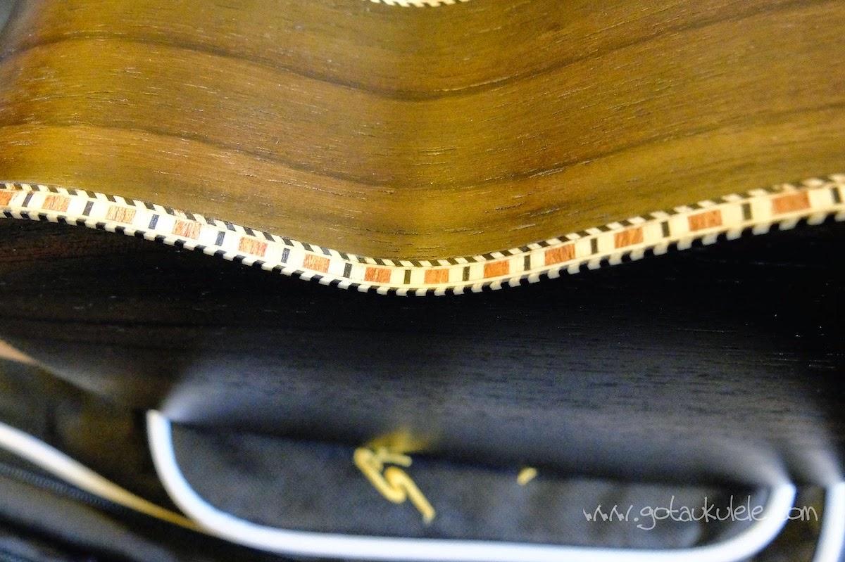 Snail UKS-220 Rosewood Soprano ukulele wooden binding