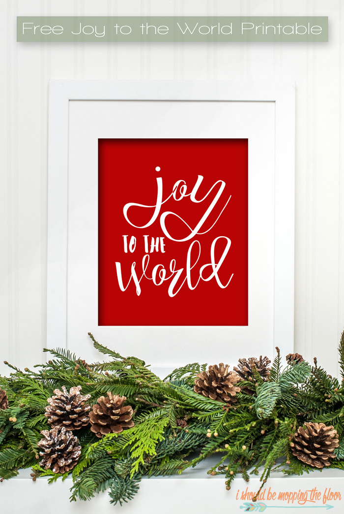 Free Joy to the World Printable available in four colors | Instant Downloads