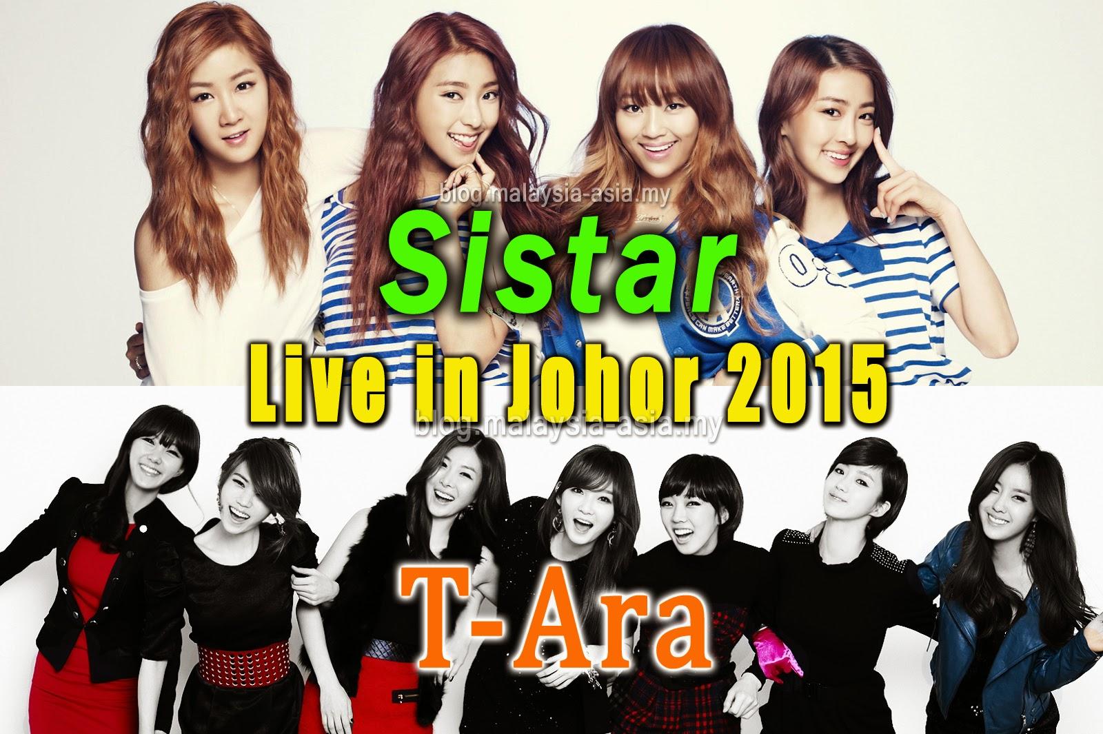 Sistar and T-Ara Concert Johor Malaysia 2015