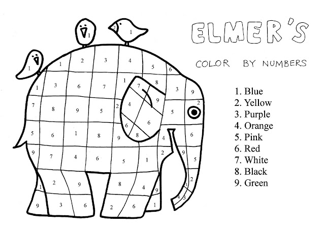 Printable Color by Number Coloring Pages