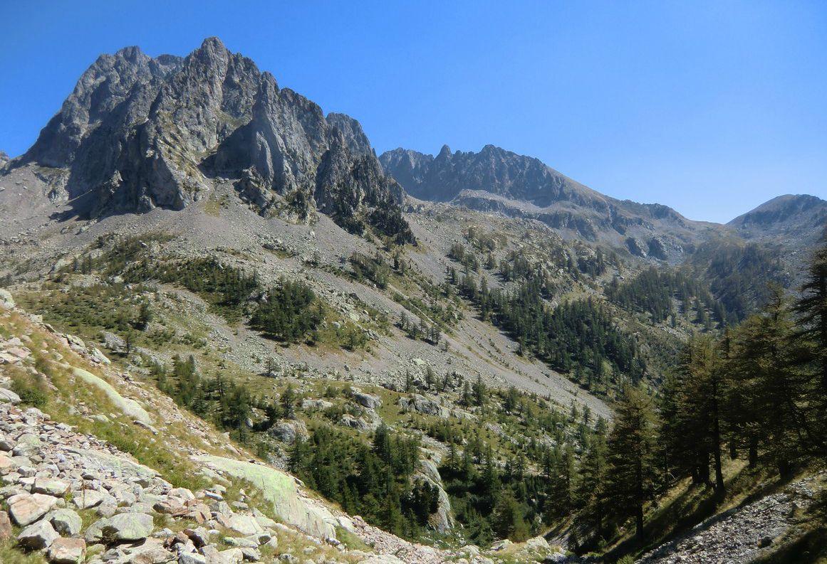 Great views when descending back to Madone de Fenestre