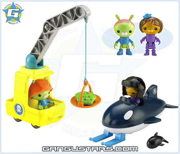the Octonauts オクトノーツ Octo-Crane with Tweak Fisher-Price toys トゥイーク Gup-O with Dashi Fisher-Price toys ダシー