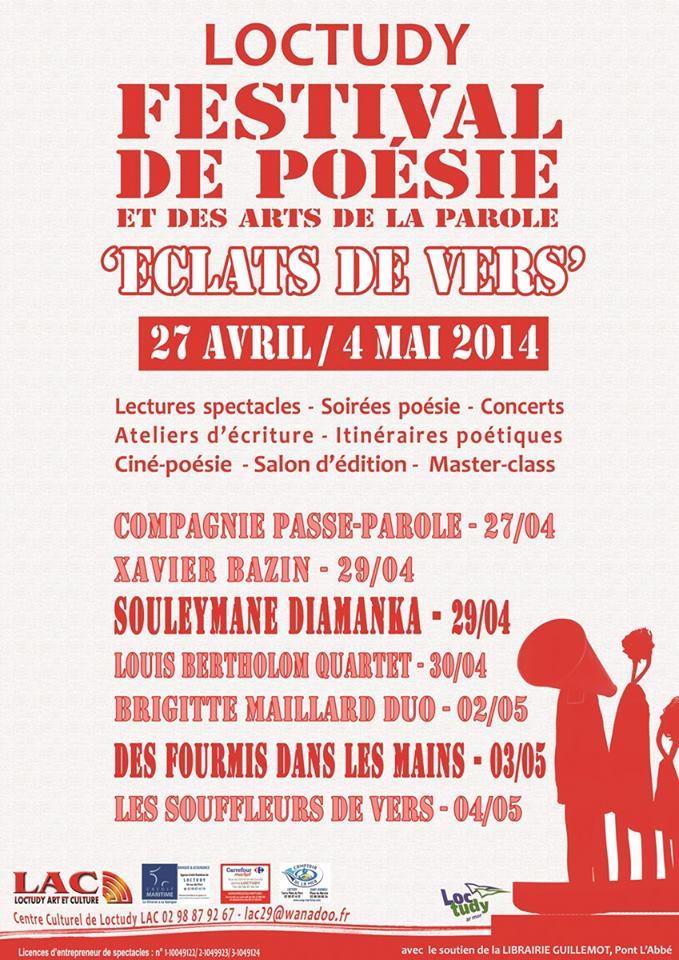 Poésie Festival Eclats de Vers Loctudy 2014