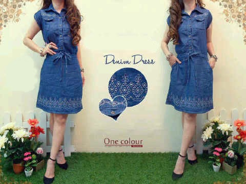 dress cewek jeans bordir