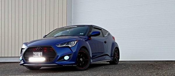 Blue Hyundai Veloster