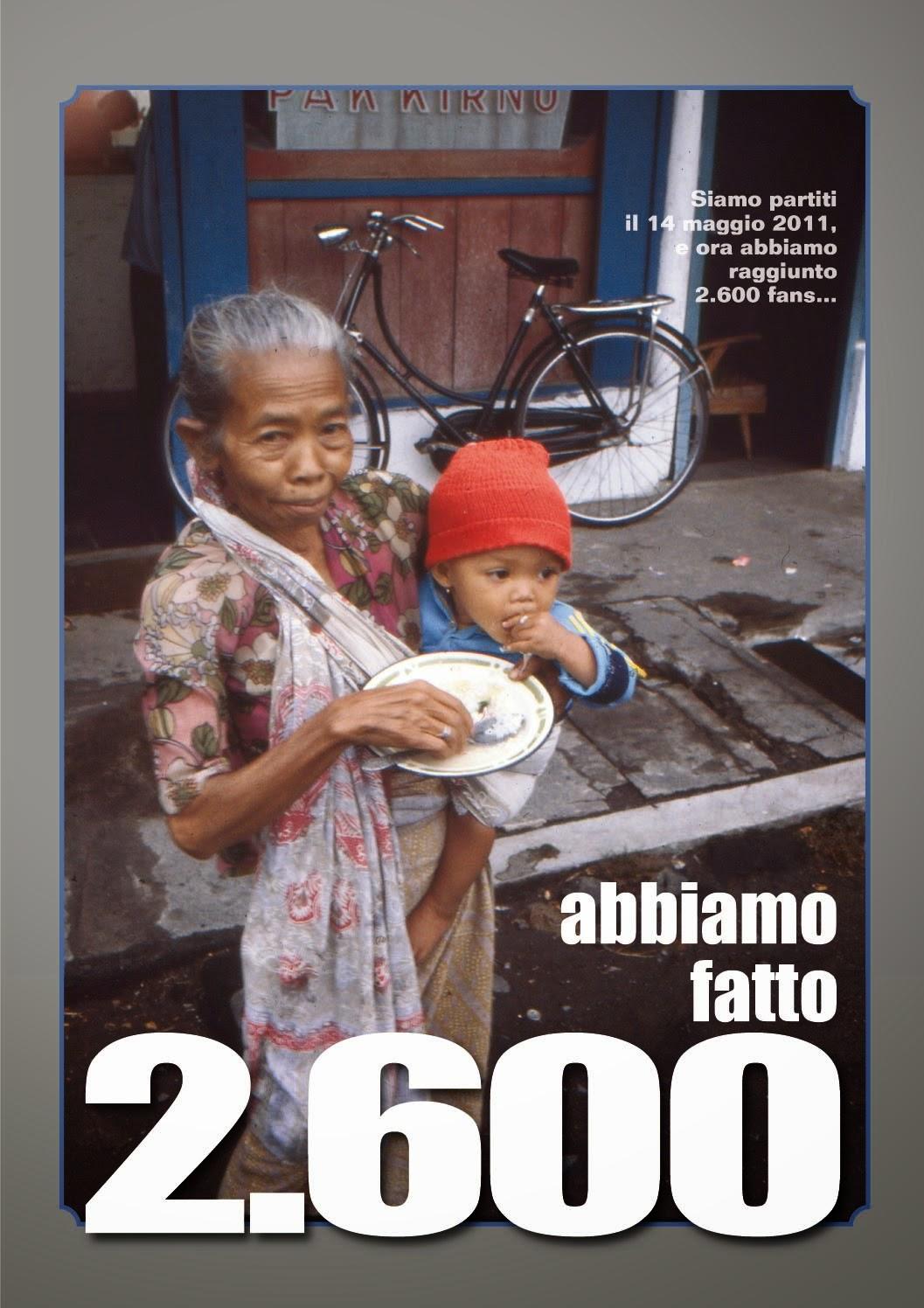 """2.600 fan, """"Sulle vie del mondo""""."""