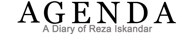 Agenda Reza Iskandar