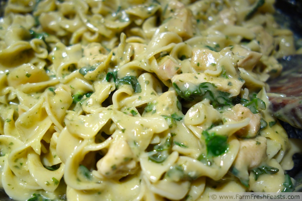 ... farmfreshfeasts.com/2013/02/chicken-spinach-artichoke-pesto-pasta.html