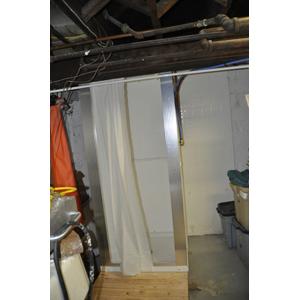 down to the glorious bathroom in the basement basement bathroom