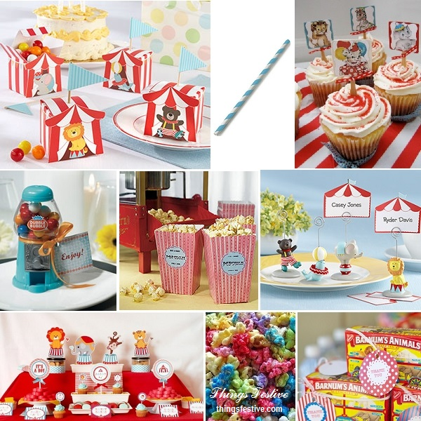 Charming Vintage Circus Baby Shower