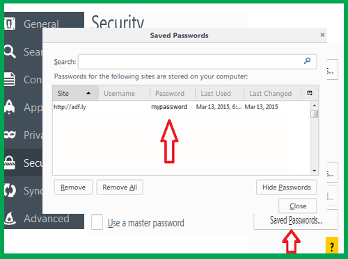 how to secure passwords on mozilla