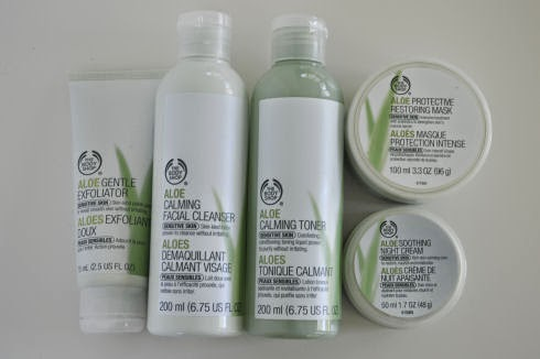 The Body Shop Aloe Skin Care Review - seriously-lovely.blogspot.com