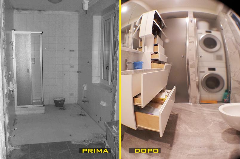 il bagno in fase di demolizione del muro lintervento ha premesso ingrandire il bagno e spostare la posizione dei sanitari leggi larticolo completo sul