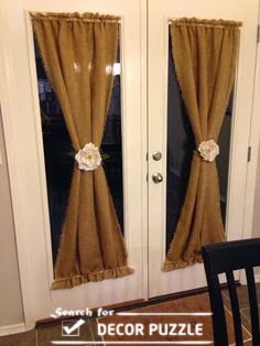 Luxury French door curtains, brown curtains designs