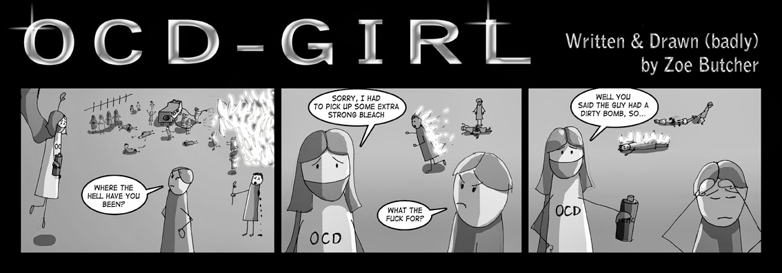OCD Girl Comic Strip