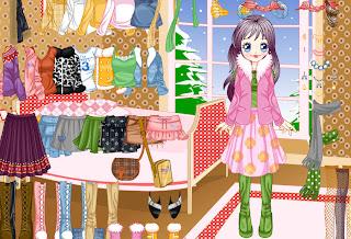 Juego de vestir a la muñeca para el invierno