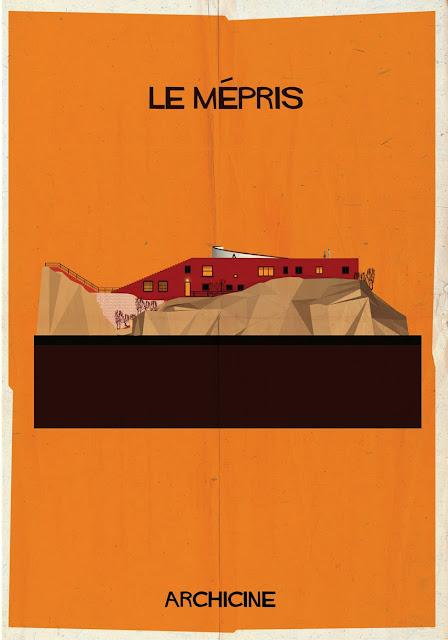 {Art} Architecture in film: Archicine by Frederico Babina | Rue du chat qui peche | Le mepris