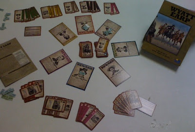 Wyatt Earp card game in play