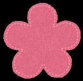 布のマークのイラスト「花」
