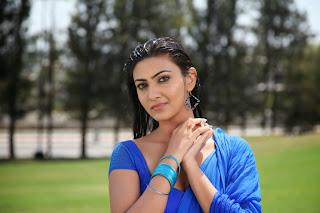Actress Neelam Upadhyay Latest  Picture Gallery in Blue Saree 0017