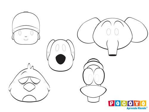 Como hacer en goma eva dibujos de Pocoyo - Imagui