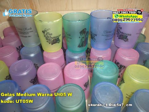 Gelas Medium Warna Ut05 W unik