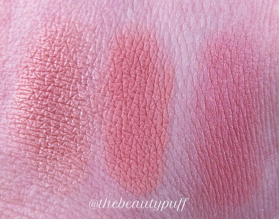 studio gear cosmetics blush swatches - the beauty puff