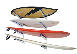 metal surfboard storage rack for multiple boards
