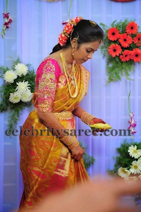 Bride in Pink Heavy Work Blouse
