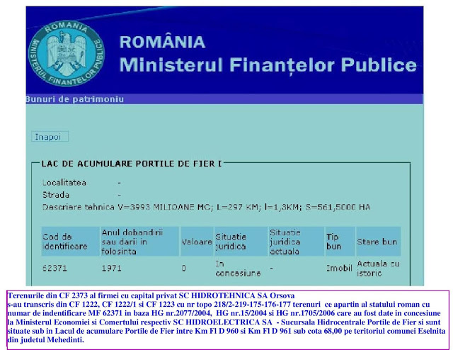NUMAR ID-62371-M.F.P.-PORTILE DE FIER
