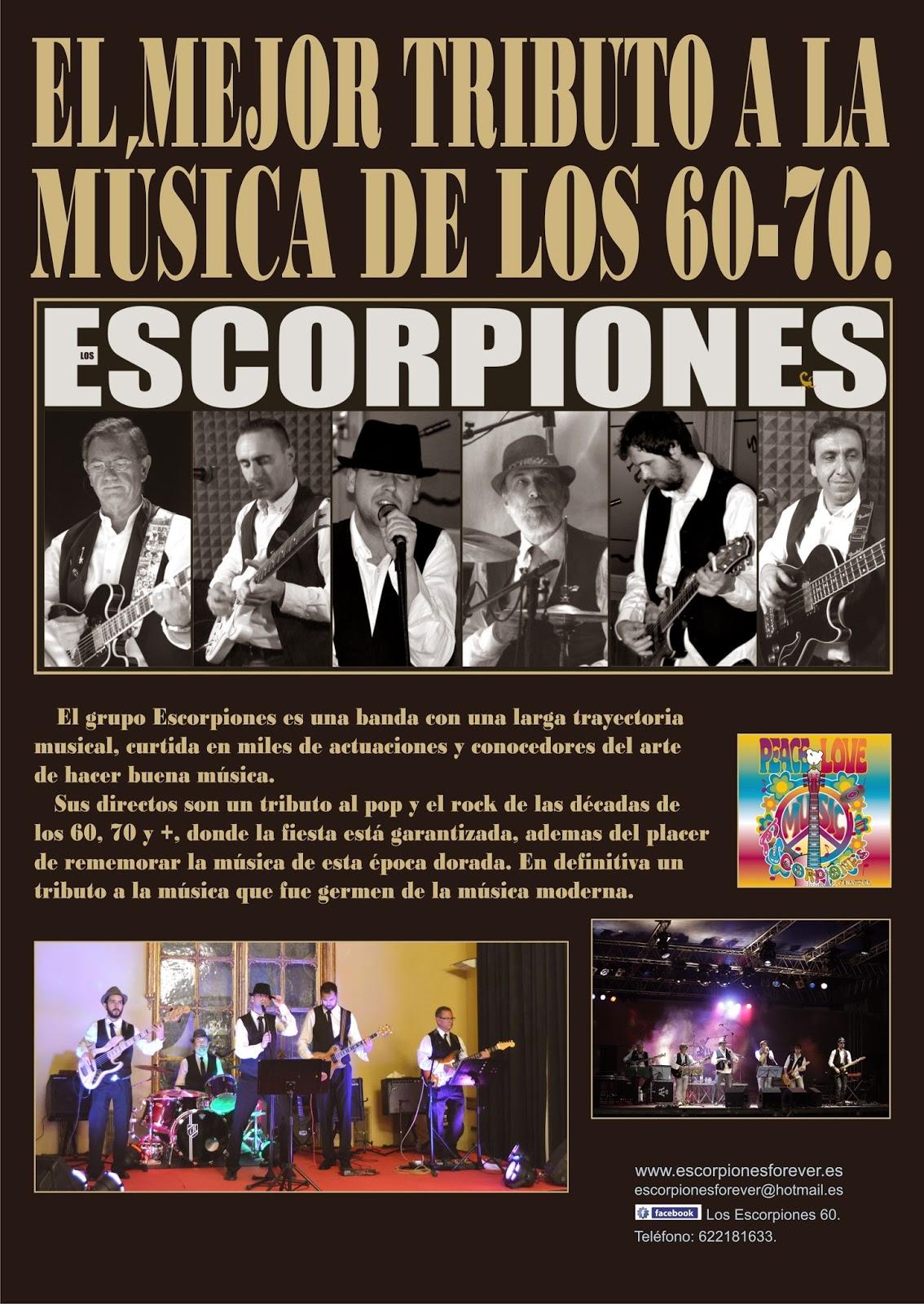 """""""ESCORPIONES"""" EL MEJOR TRIBUTO A LA MÚSICA DE LOS 60 Y 70"""
