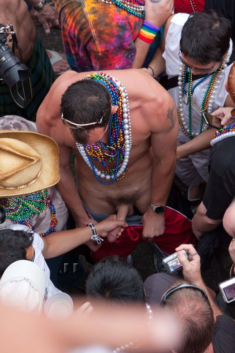 Gay Mardi Gras Blow Job