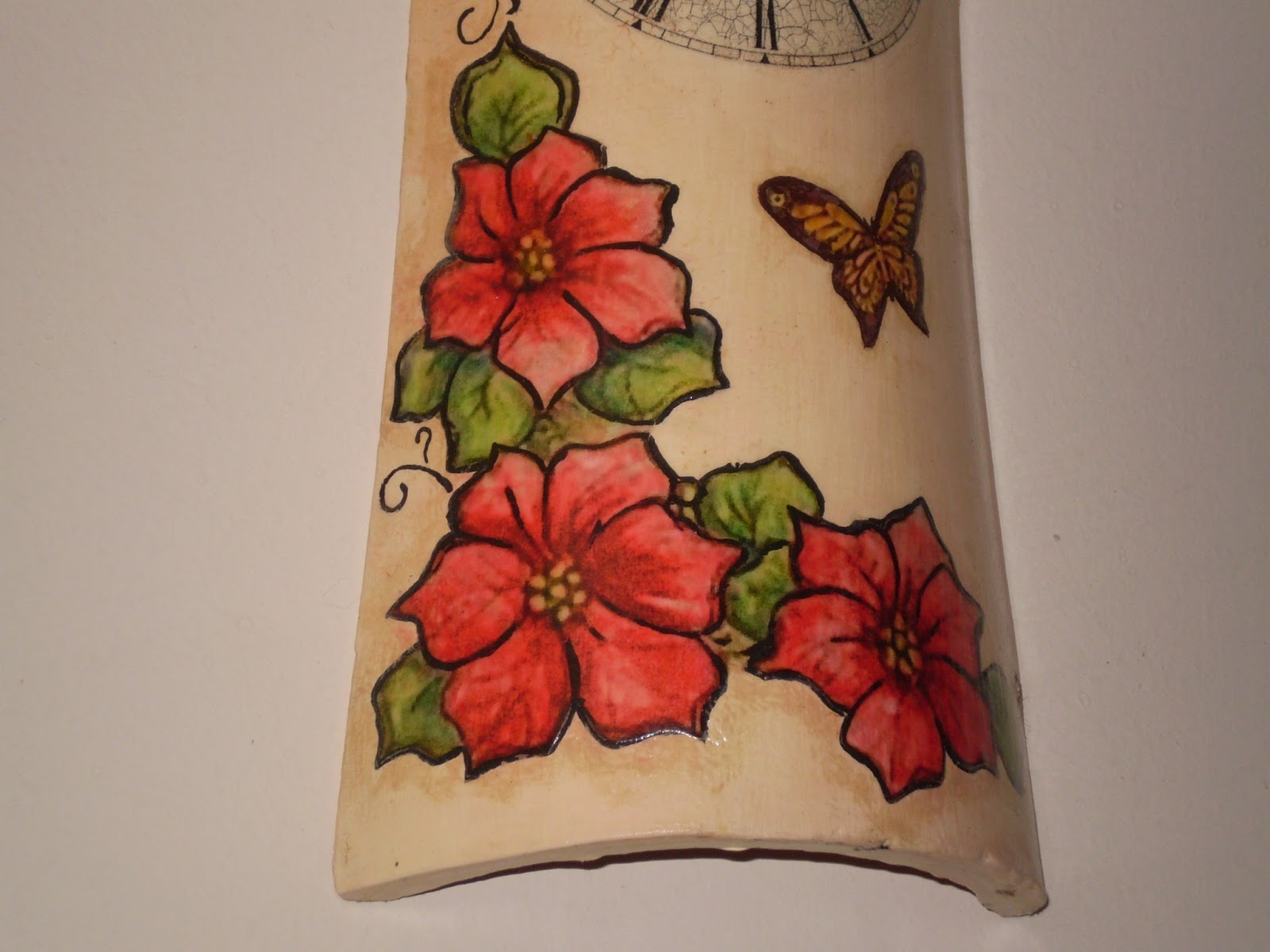 El refugio de lirtea teja reloj - Pintura para decoupage ...